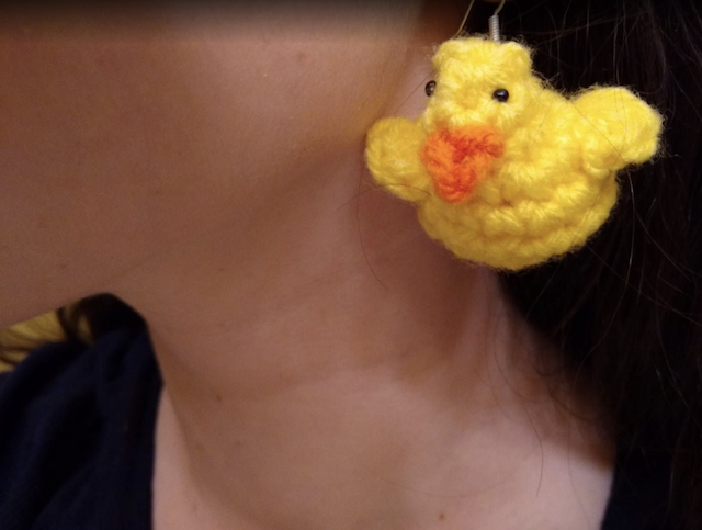 Crochet Rubber Duck Earrings